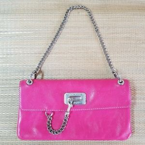 Michael Kors pink leather chain envelope purse bag